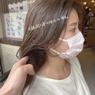 マスクに最適なヘアスタイル⭐︎