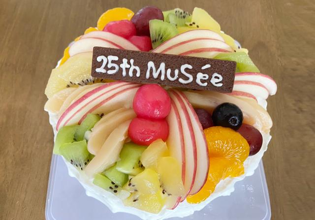 25周年祝いケーキ